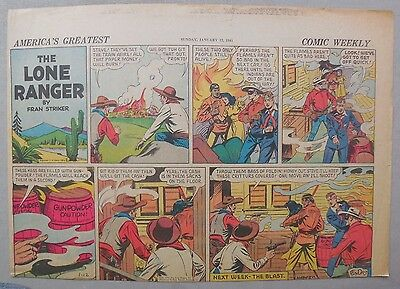 Lone Ranger Sunday Page by Fran Striker and Charles Flanders from 1/12/1941