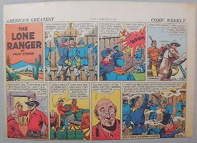 Lone Ranger Sunday Page by Fran Striker and Charles Flanders from 2/9/1941