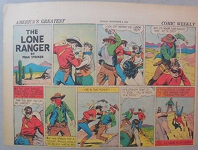 Lone Ranger Sunday Page by Fran Striker and Charles Flanders from 9/6/1942