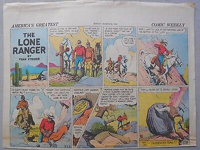Lone Ranger Sunday Page by Fran Striker and Charles Flanders from 3/28/1943