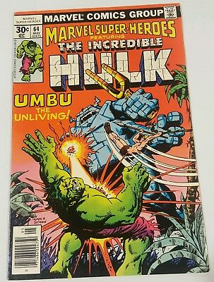 The Incredible Hulk #64 Umbu, The Unliving,  in excellent condition
