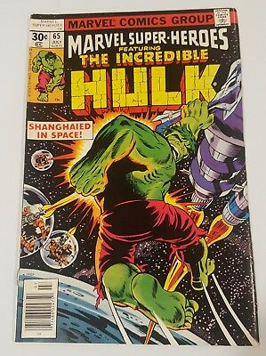 The Incredible Hulk #65 Shanghaied in Space excellent condition