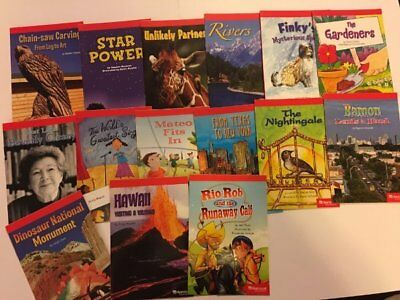 Lot of 15 Harcourt  4th Grade Below-Level Leveled Readers DRA 34-38-40