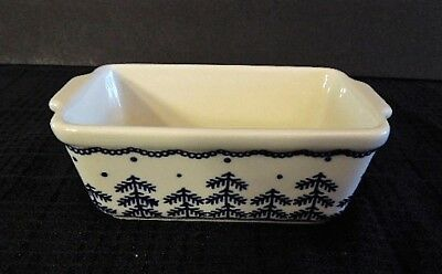 Boleslawiec Polish Pottery Holiday / Winter Mini Loaf Pan - Pine Tree Pattern