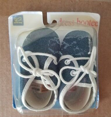 Baby Infant Size GOLD BUG Dress Bootee Shoes Blue Denim