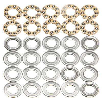 10Pcs Model F8-16M 8 x16 x 5mm Miniature Thrust Axial Metal Ball Bearing Set