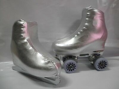 Silver Foil  Boot Covers for RollerSkates and Ice Skates  S,M,L