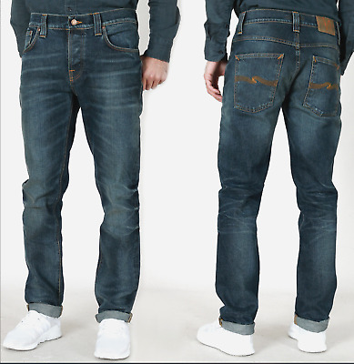 Nudie Men/'s Slim Fit Jeans Trousers Grim Tim B-Stock Small Defects New