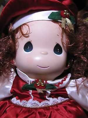 1999 Precious Moments Christmas Holly Doll (QVC Exclusive #1141)