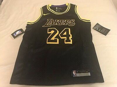 f2d1c602f978 NWT Kobe Bryant Elite Nike City Jersey Black Youth M 10-12 Los Angeles  Lakers