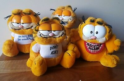 Vintage R. Dakin & Co. Garfield Plush Toys x 4 81 Collectable Cartoon Cat lot#2