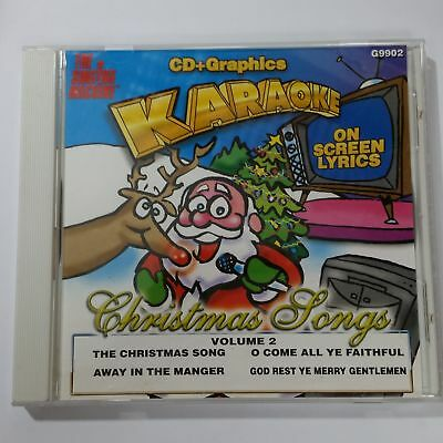 SINGING MACHINE Karaoke Christmas Songs Vol. 2 G9902 CD Compact Disc + Graphics
