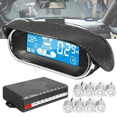 Car Parking Sensor 8 Rear Front View Reverse Backup Radar LED Display System
