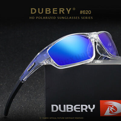 DUBERY Polarized UV400 Sunglasses Outdoor Fishing Cycling Sport Goggles + Boxs