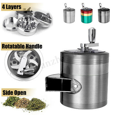 4 Layers Hand Crank Mill Crusher Tobacco Metal Herb Crusher Smoke Grinder
