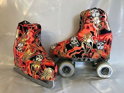 Skulls Boot Covers for RollerSkates and Ice Skates  S,M,L