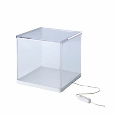 2 x IKEA SYNAS Clear Model Showcase LED Light Display Box Show Case New