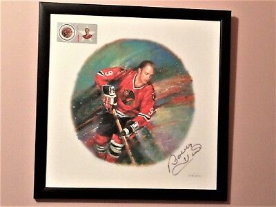 Nhl All Stars - Bobby Hull's Autographed Lithograph - Auth. Limited Edition- Coa
