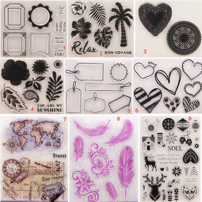 Flower Transparent Silicone Clear Stamps Tree DIY Scrapbook Embossing Card Tags