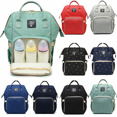 US Large Capacity Maternity Mummy Bag Nappy Diaper Bag Baby Travel Backpack