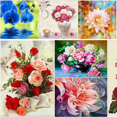 Flower DIY 5D Diamond Painting Embroidery Rose Cross Stitch Kits Home Decor Art