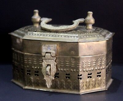 Vintage Beautiful Indian Brass Multi Compartment Box