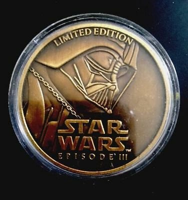 Star Wars Episode 3 Limited Edition 2005 LFL Coin Medallion Darth Vader Mint and