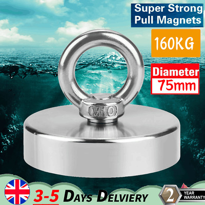 Recovery Super Strong Pull Fishing NdFeB Magnet Treasure Hunting Eyebolt 160KG