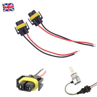 2x H11 H8 BULB HOLDERS CONNECTOR WIRE PLUG FIT FOR HEADLIGHT or FOG LIGHT