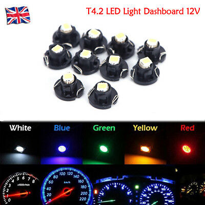 10X Car T4.2 Neo Wedge 1-SMD LED Cluster Instrument Dash Climate Bulbs Lights