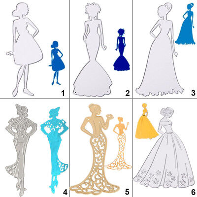 Lady Cutting Dies Metal Stencil DIY Scrapbooking Album Card Embossing Women Gift