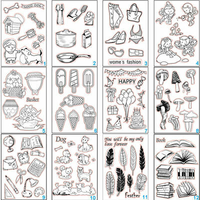 Angel Transparent Silicone Clear Stamps DIY Scrapbook Embossing Paper Card Dog