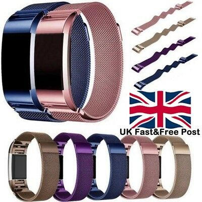 For Fitbit Charge2 Strap Replacement Milanese Band Metal Stainless Steel Magnet√