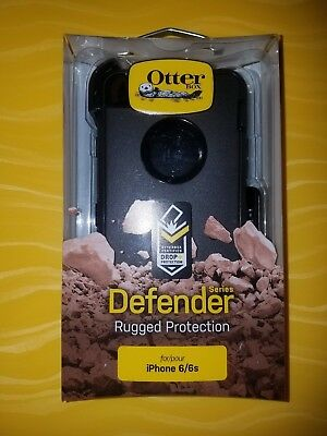 New OtterBox Defender Series Case for iPhone 6 iPhone 6S - Black     SHIPS TODAY