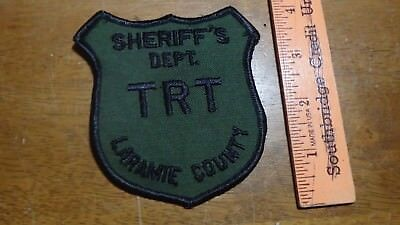 Rare Laramie County Wyoming Sheriff's   Department Trt  Obsolete Patch Bx X#2