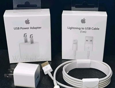Original Charger With Lightning to USB Cable For Apple iPhone 5, 6, 7, 8, X,Plus