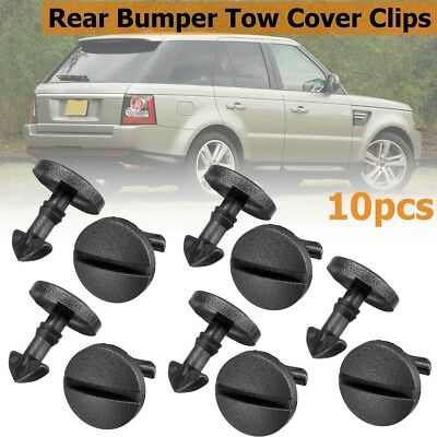 10PCS Rear Bumper Tow Bar Cover Clips Towing Trim For Land Rover Discovery 3 4