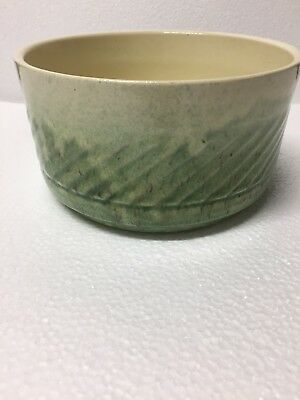 FTD 1979 Vintage USA Pottery Green Flower PLANTER Bowl By Haeger  USA