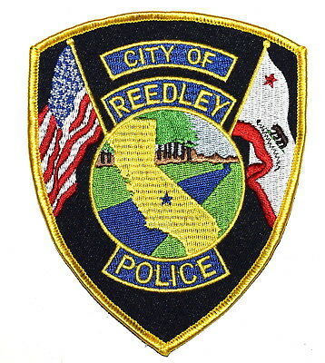REEDLEY CALIFORNIA CA Police Sheriff Patch STATE SHAPE OUTLINE CITY STAR VINTAGE