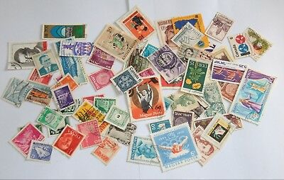 Stamps Worldwide Lot 50+ pcs Used Collection Vintage Old Estate #2