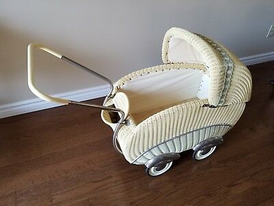 Retro Original D.B.G.M. Wicker Doll Pram