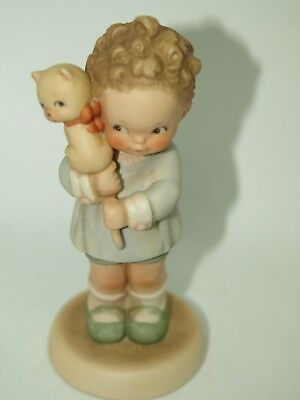 Vintage 1987 Enesco Hang on to Your Luck Figurine Memories of Yesterday-1471