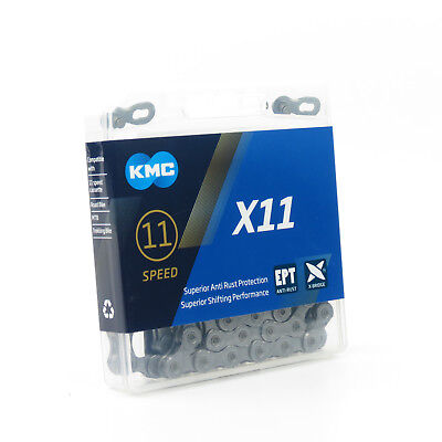 KMC X11EPT 11 speed 118L Bike Bicycle Chain for SHIMANO Campagnolo SRAM - Silver