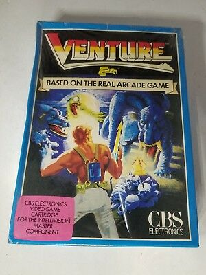 New Sealed W/ Damaged Box Venture Blue Dragon Cbs Game For Intellivision A20
