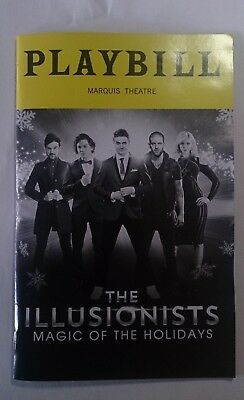 THE ILLUSIONISTS PLAYBILL 2018 Magic of the Holidays ~SHIN LIM broadway show agt