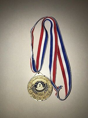 2nd World Firefighters Games; Las Vegas, USA Gold Tone Medal 1992