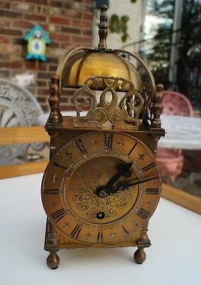 EMPIRE Brass lantern type clock with lever escapement