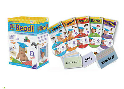 YOUR BABY CAN READ - Early Language Development System - 5 DVDs & Flash Cards
