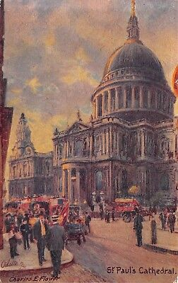 Tuck Oilette St Paul Cathedral United Kingdom lot of 2 postcards