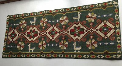 Vintage Swedish Embroidere Large Tapestry / Wall Hanging / Handmade